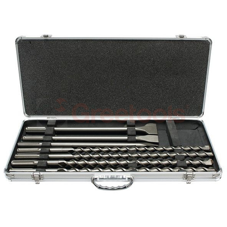 7 Piece SDS Max Percussion Concrete Drill Bits and Chisel Set