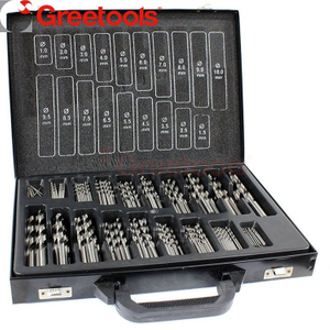170 Piece HSS Roll Edged Black Drill Bits Set